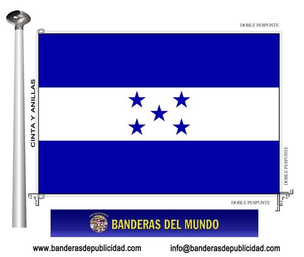 Bandera honduras banderas del mundo banderas y for Medida de baneras