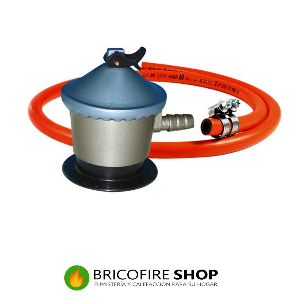 Regulador de gas manguera butano bricofire tubos de - Chimeneas de gas butano ...