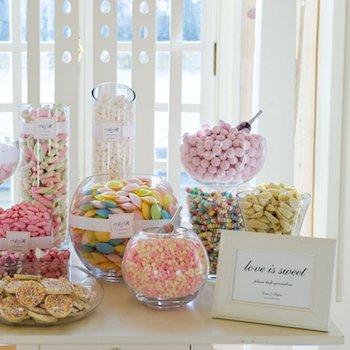 jarrones cristal candy bar