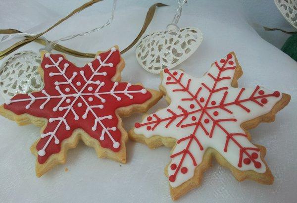 12 Galletas Estrella De Navidad Galletas Decoradas Fresa