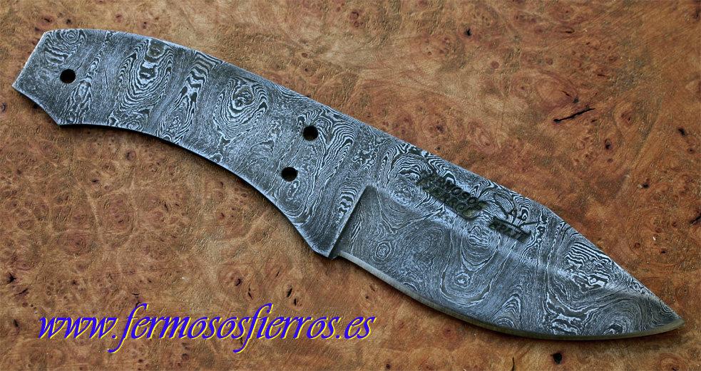 Hoja de acero de damasco fermosos fierros haciendo cuchillos - Cuchillo de cocina acero damasco ...