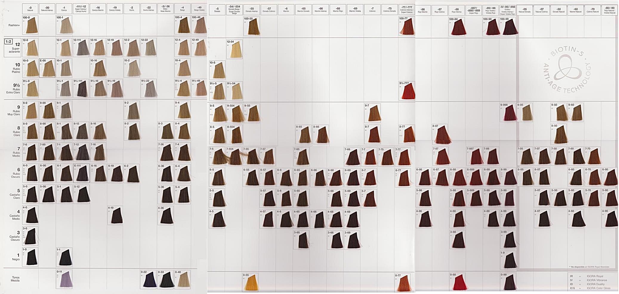 Игора роял краска для волос палитра официальный сайт