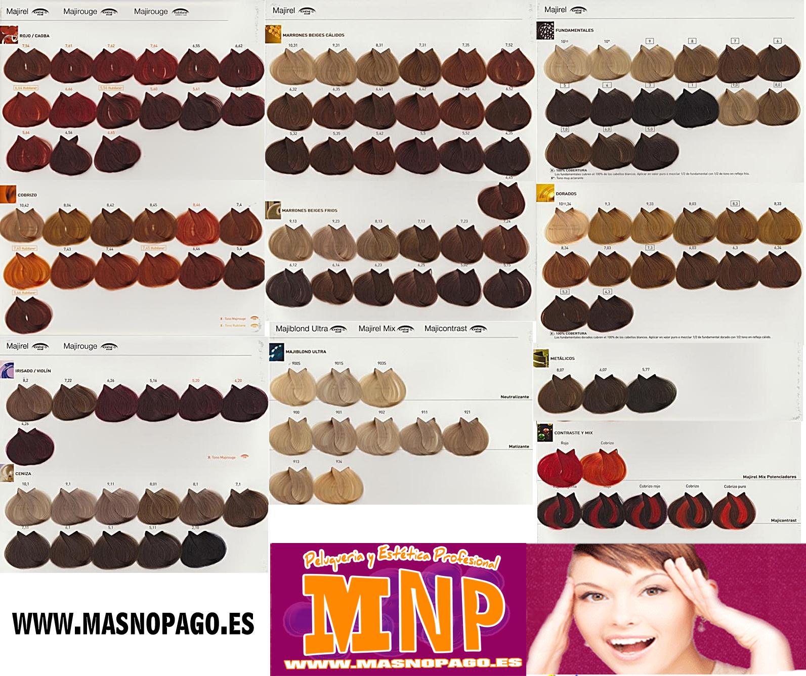 Профессиональная краска для волос лореаль палитра цветов