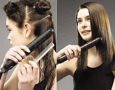 Consejos para planchar el pelo rizado