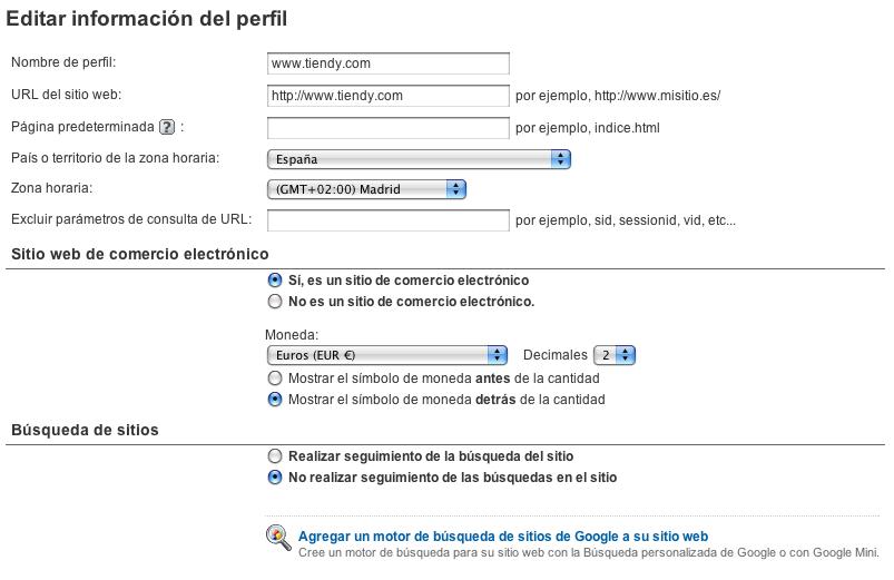 Image:Edicion informacion perfil. Google Analytics.tiendy.1.png