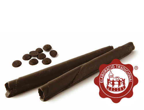 Barquillos con chocolate. 180g