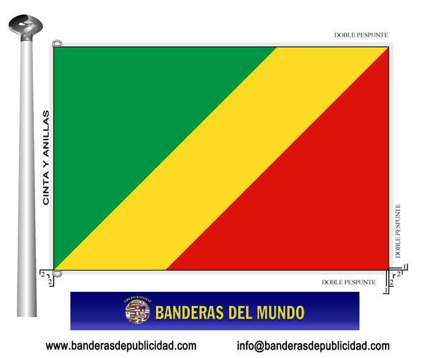 BANDERA CONGO  Banderas del Mundo  Banderas y Mstiles