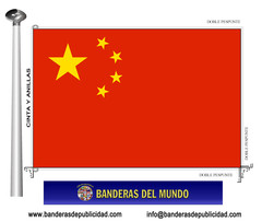 Bandera país de China República Popular
