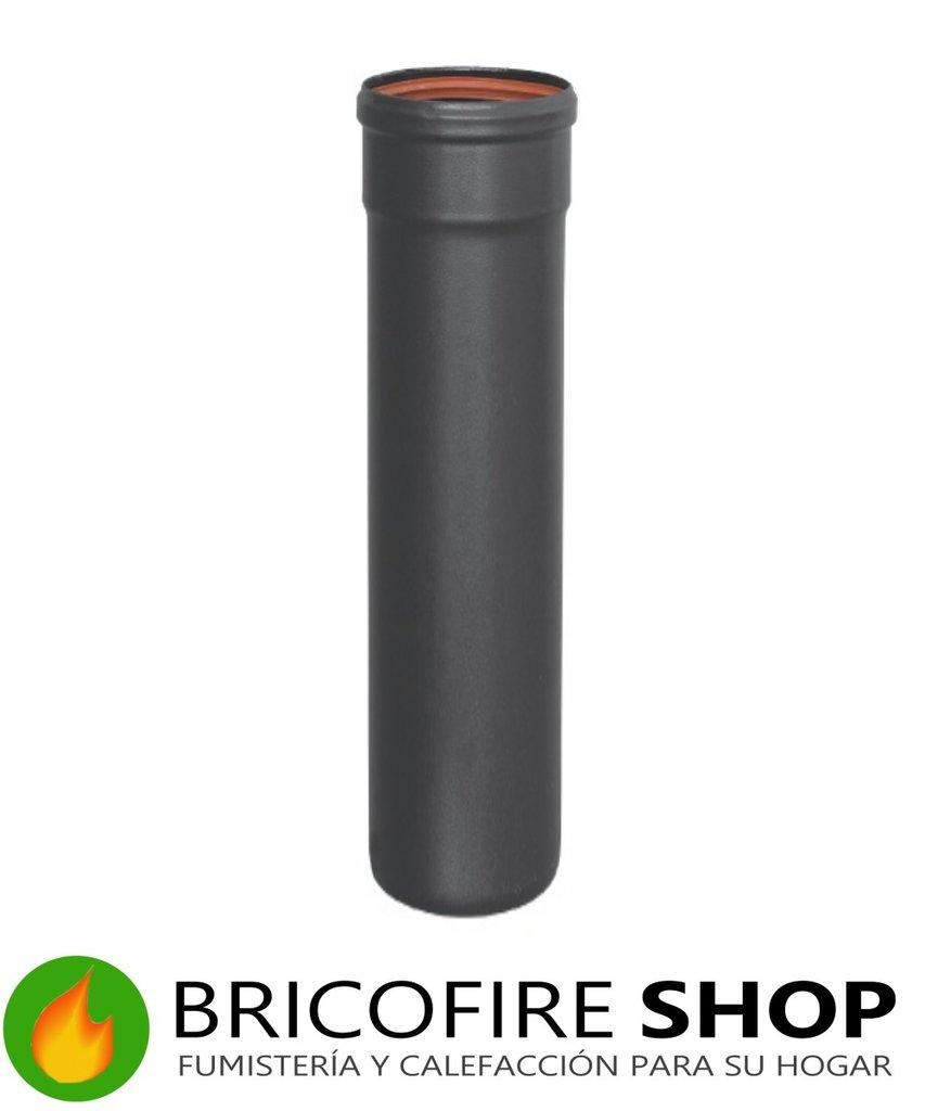 Tubo negro 80 pellet 100 cm bricofire - Tubos estufa pellets ...