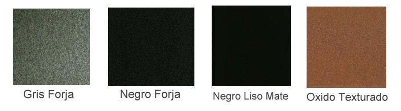 Carta colores Tubo barbacoas