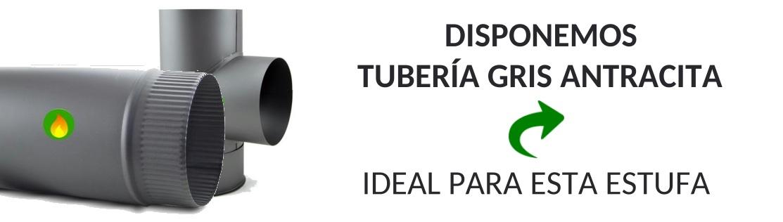 Tuberia gris antracita para estufa panorámica de Juan Panadero
