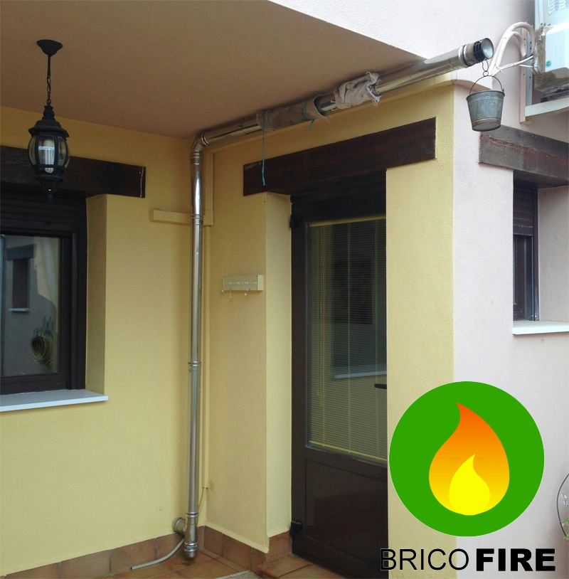 Problemas con la instalaci n de estufa de pellet for Se puede poner una chimenea en un piso