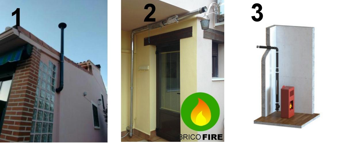 Instalaciones incorrectas estufas de pellet exterior