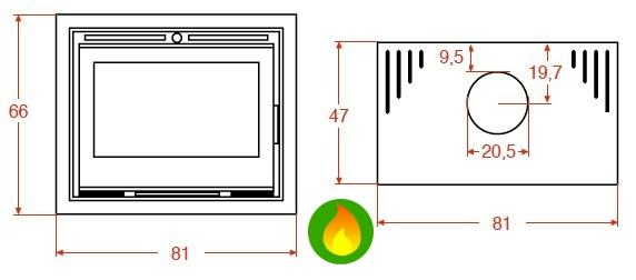 Medidas estufa cube 700 Salgueda
