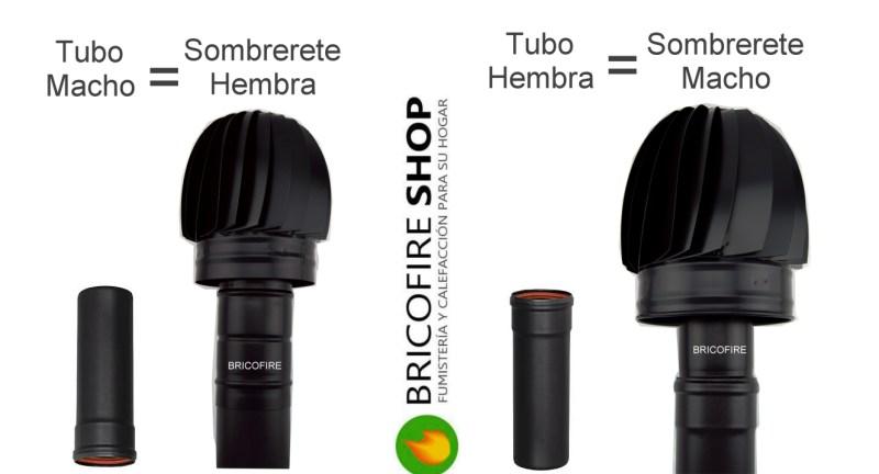 Base macho o hembra del sombrerete en función del tubo