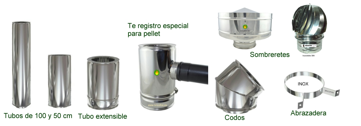 Tubo de doble pared para pellet
