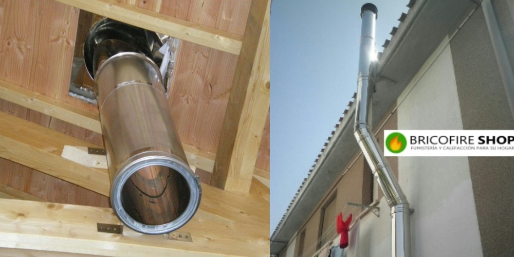 Tubo doble pared instalacion condensacion