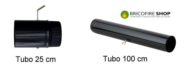 Tubo registro tiro 25 y 100 cm