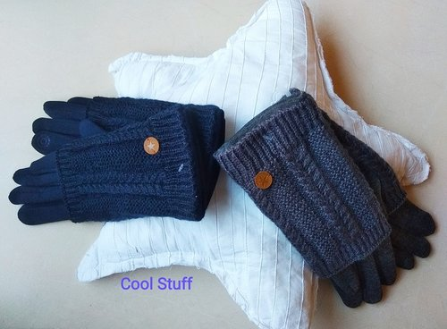 Double braid knitting gloves