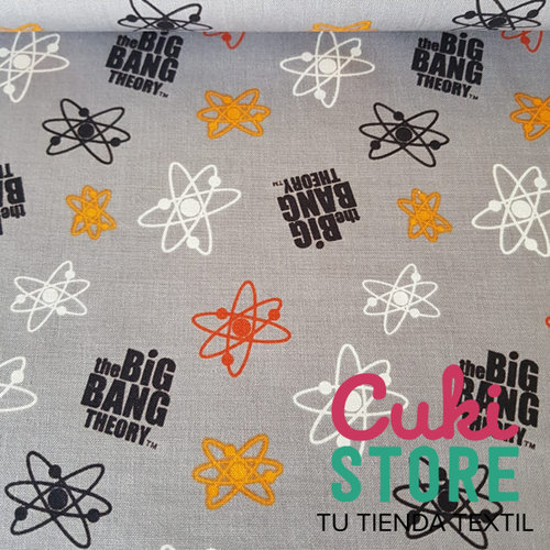 ALGODON 100% BIG BANG LOGO GRIS