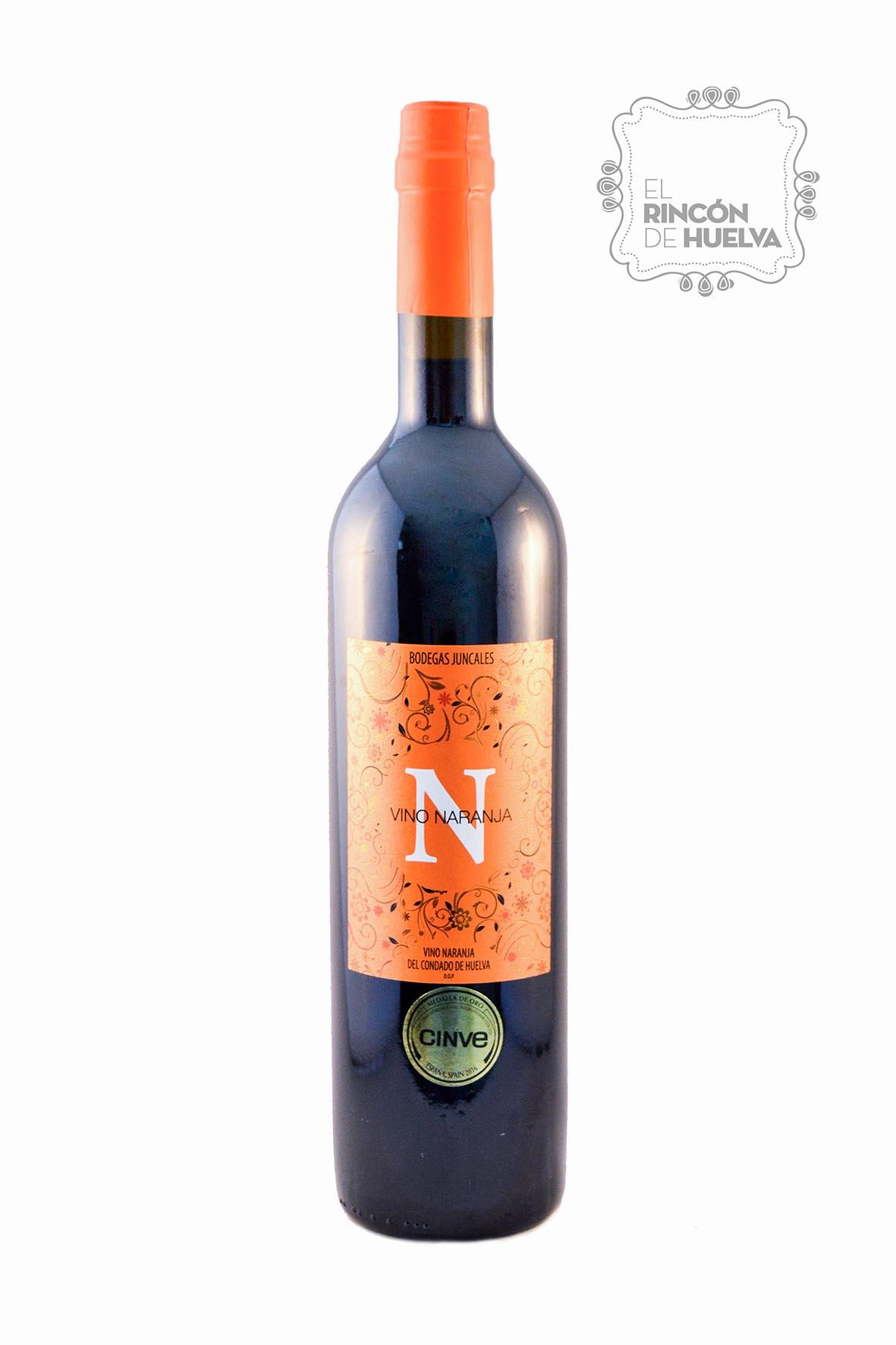 botella de vino de naranja de bodegas juncales