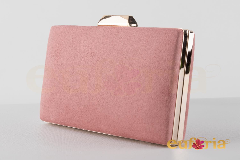 diseño atemporal 195d7 1f3de Bolso de fiesta rosa palo