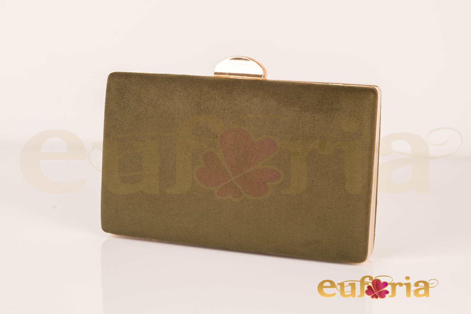e8b35596ce9 Bolso de fiesta verde kaki - Euforia Modas
