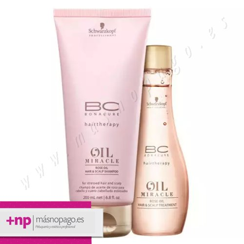 PACK Schwarzkopf Bonacure Rose Oil Champu + Rose Oil Tratamiento
