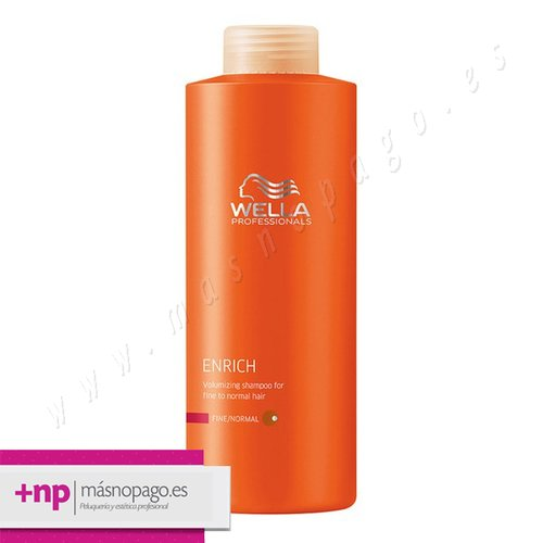 Champu de Volumen Cabello Fino/Normal Wella Enrich 1000 ml