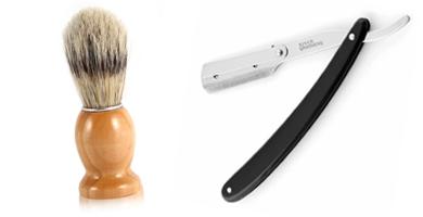 Navajas y brochas de afeitar