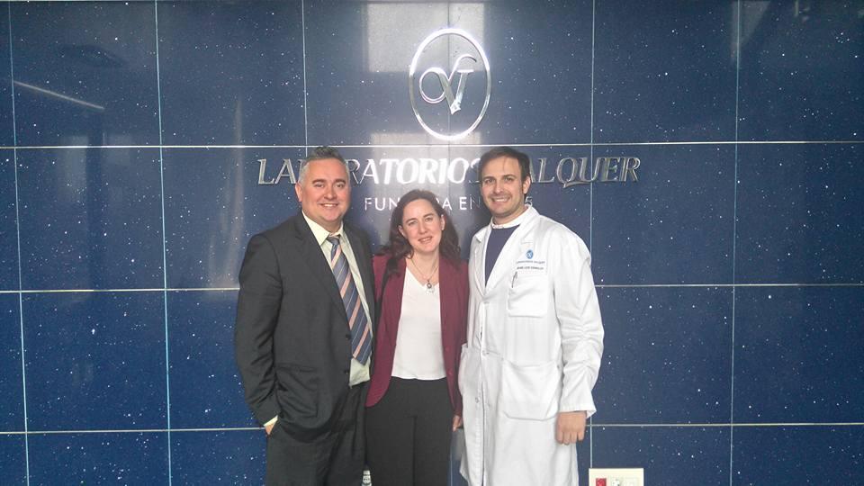 visita del equipo directivo de masnopago a Laboratorios Valquer