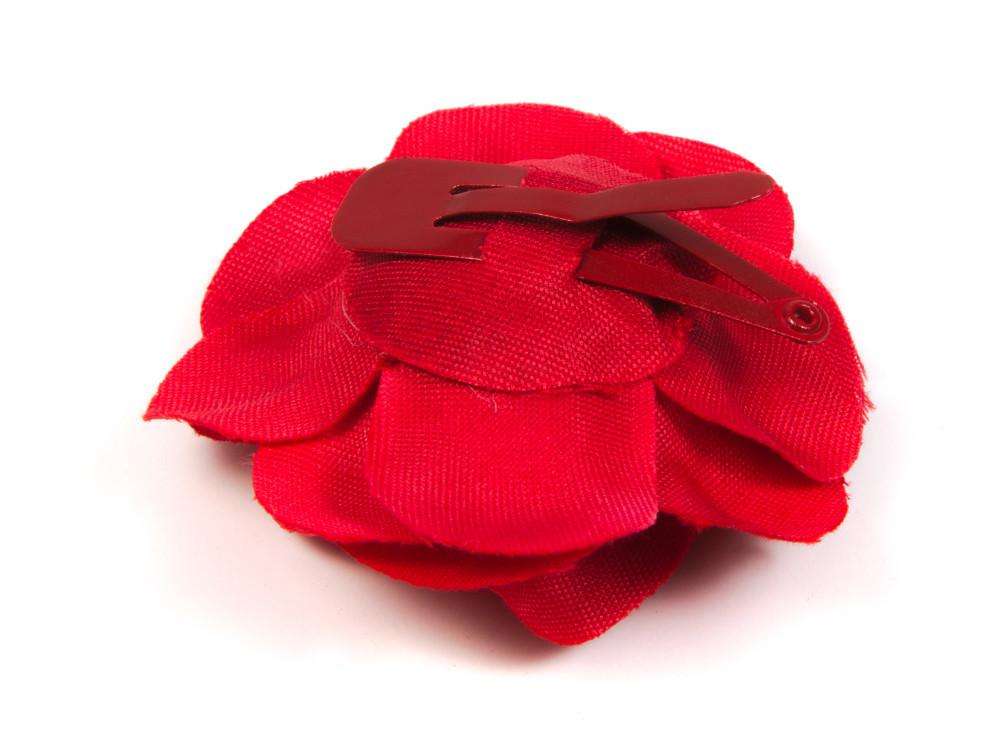 Flor flamenca de clip roja para el pelo MiBebesito c700093bb71
