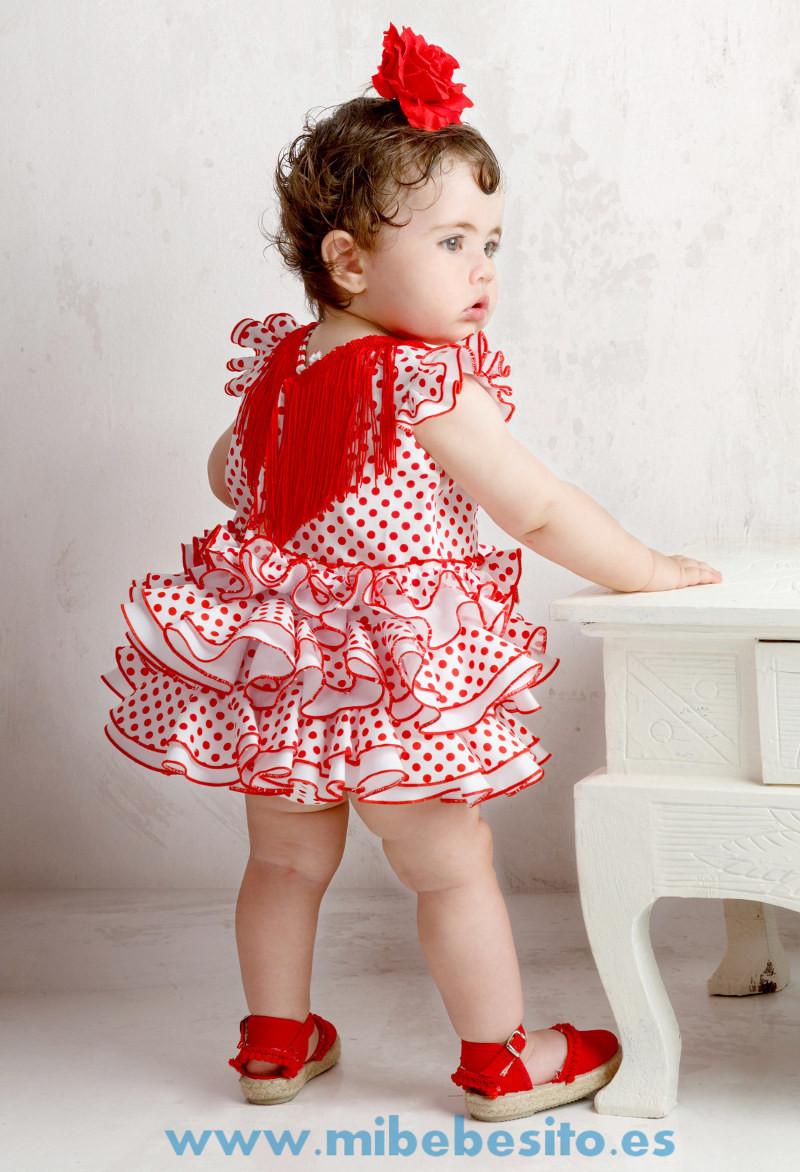 9d8f624ca vestido de flamenca para niña de pocos meses con braguita a juego