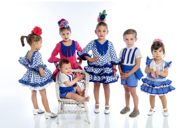 Nueva colección 2019 Moda Flamenca Infantil MiBebesito azul