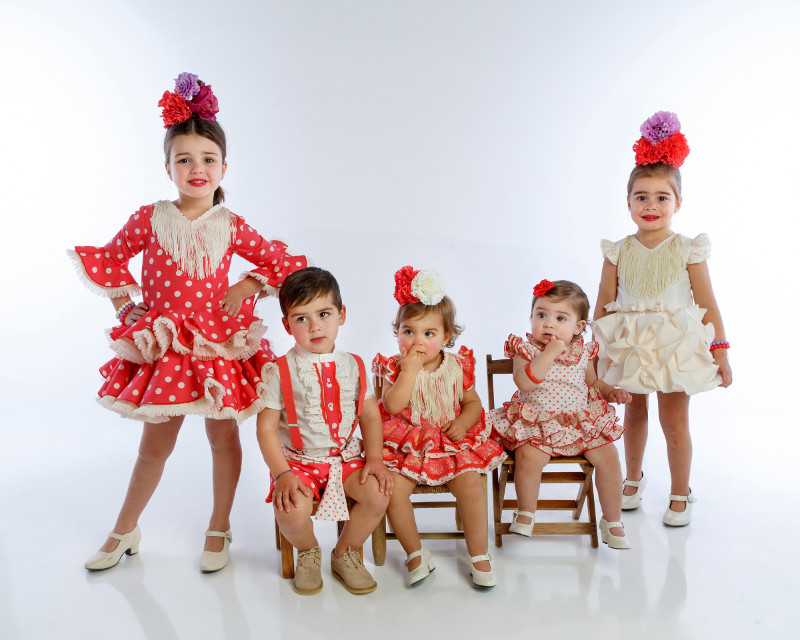 Nueva colección 2019 Moda Flamenca Infantil MiBebesito coral