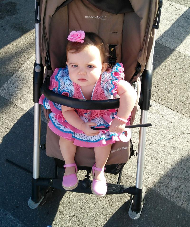 Traje de bebe para flamenca niña MiBebesito
