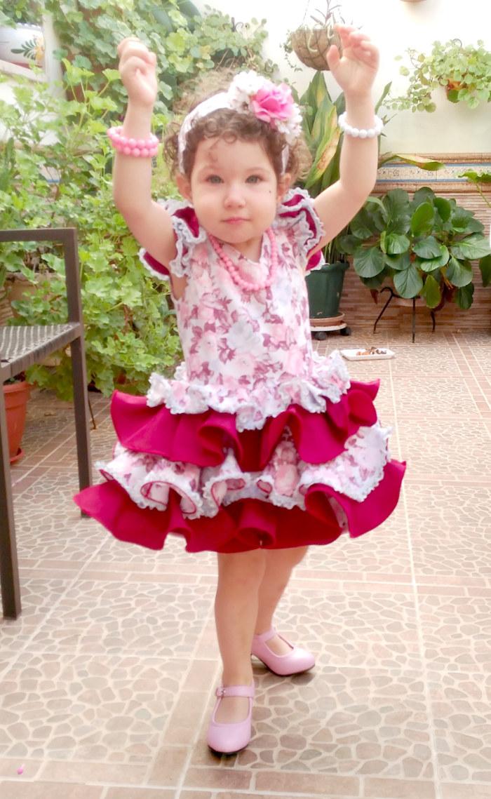 Traje de gitana flamenca para niña MiBebesito