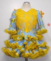 Traje de gitana flamenca para niña
