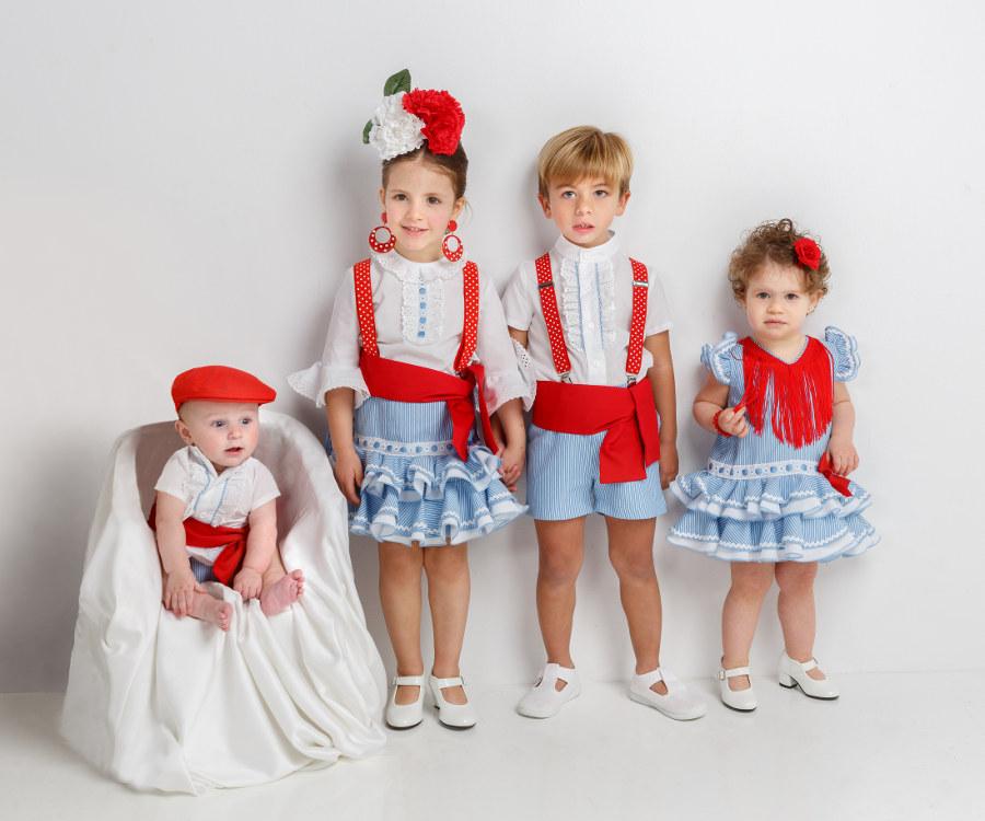 Moda flamenca infantil colección mil rayas algadón 2018