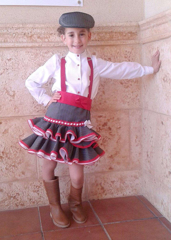 Traje de gitana flamenca campero para niña MiBebesito