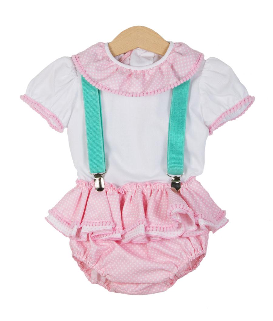 Traje de gitana para bebe braguita camisa rosa bebe