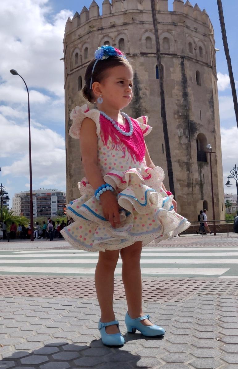 Traje de gitana para niña multicolor MiBebesito sevilla