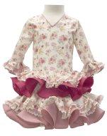 Traje de flamenca para niña estampado MiBebesito