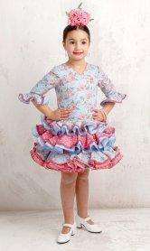 Traje de gitana flamenca para niña estampado flores