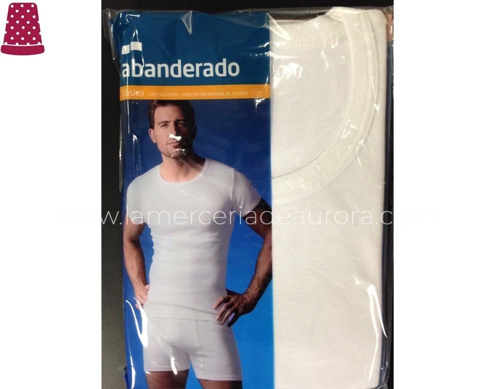 Abanderado 306 Camiseta Manga Corta Caballero Cuello Redondo 100/% Algodon