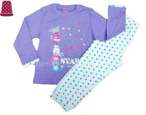 ae0fcf25b3 Pijama niña algodón invierno Catch the star (2-6 años)