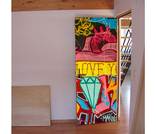 DoorDresser | Deco industrial | Graffiti love