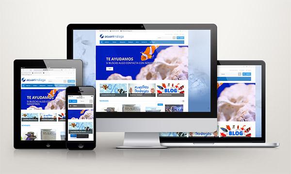 Vistas del nuevo diseño en distintos tamaños de pantalla (responsive)