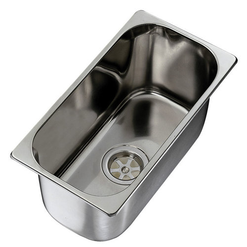 FREGADERO / LAVABO RECTANGULAR, ACERO INOXIDABLE, INT. DIAM. 300X150MM, EXT. DIAM. 320X170MM