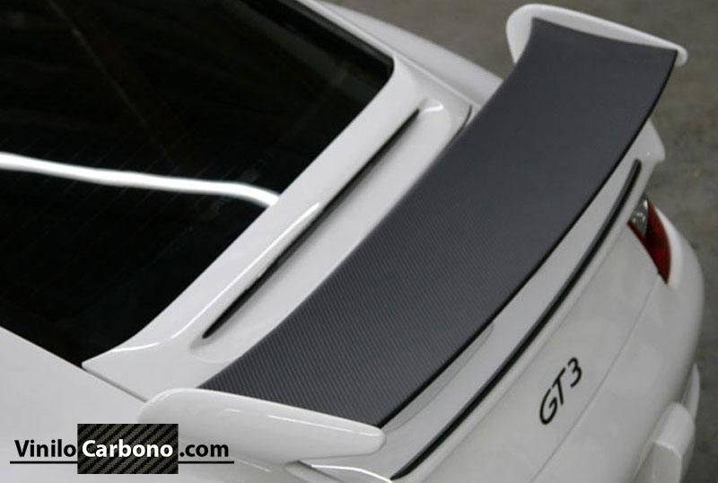 Alerón Porsche GT3 Vinilo Carbono
